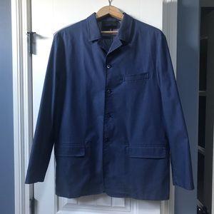 Prada Milano men's jacket.  Size 50.  Blue.